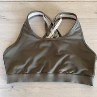 Avia size Small Women's Gray Silver Sports Bra Strappy