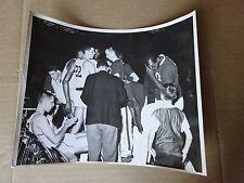 Original 1963 Detroit Pistons Game Timeout Photograph, DeBusschere, Dischinger