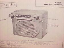1948 BUICK SPECIAL SUPER ROADMASTER CONVERTIBLE AM RADIO SERVICE SHOP MANUAL 1