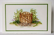 Bleeding Hearts Gate(U get photo #2) L@@K@examples ART IMPRESSIONS RUBBER STAMPS