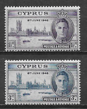 CYPRUS , 1946 , PEACE ISSUE , SET OF 2 , PERF , MNH
