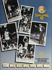 Golden State Warriors _RARE_ 1984/85 Schedule Poster Spalding Basketball Promo