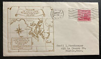 1934 Washington USA First Day Cover FDC 300th Anniversary Of Maryland Founding