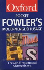 ROBERT ALLEN [EDITOR] Oxford Pocket Fowler's Modern English Usage 2002 SC Book