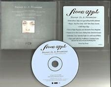 FIONA APPLE Never is Promise RARE RADIO EDIT PROMO DJ CD Single 1997 USA OSK3669