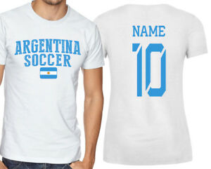 Argentina T-shirt Soccer Jersey any Sports Add Any Name and Number men's adults