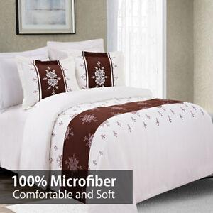 Eleanor Luxury 3PC Embroidered Duvet Cover Set- 100% Microfiber Comfortable