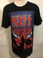 KISS ARMY BAND T-SHIRT Mens Size Large H8