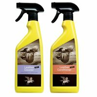 B & E Lederpflege Set 2 x 500 ml - Leather Cleaner + Conditioner, Step 1 + 2