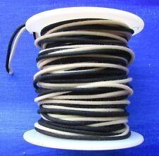 "50 ft"" Vintage style Gavitt Cloth Push Back Guitar Wire Black & White 22ga"