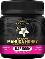 NEW ZEALAND FREZZOR MANUKA HONEY UAF1000+ Immune Health, Skin, Cold & Flu Relief