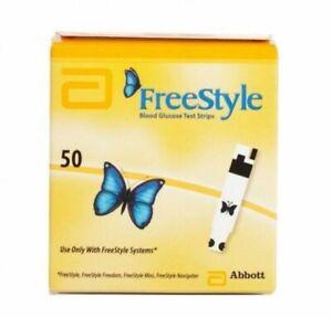 Abbott FreeStyle Blood Glucose Test Strips x 50