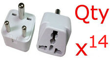 India 14pk Adapter Plug Charger Converter US American to Indian 3 Pin