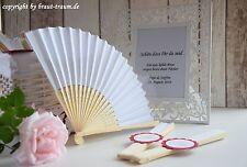 Fächer weiss, Gastgeschenk, Hochzeit, Braut, zum Brautkleid