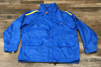 Polo Jeans Co Ralph Lauren Mens Windbreaker Jacket Blue Size Medium Vintage Used