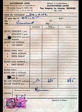"BOURGES (18) SAVON / SUNLIGHT LUX GIRAFE PERSIL OMO... ""SAVONNERIES LEVER"" 1956"