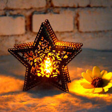 CANDELA Stile Marocchino Lanterna LED Luce Giardino Esterno Rustico Lampada Quadrata