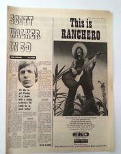 SCOTT WALKER 'in 3-D' 1969 UK ARTICLE / clipping