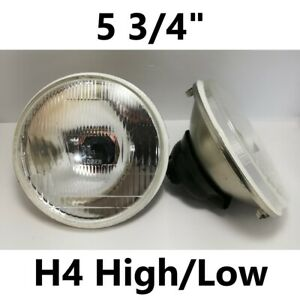 """1pr 5 3/4"""" Semi Sealed Flat Headlights Hi/Lo Mazda RX4 Nissan Skyline 2000 GTR"""