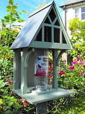 Holly cottage bird feeder Gothic, designer feeding station handmade wooden gift