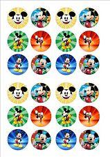 Mickey Mouse De Hadas Cup Cake, Decoración Toppers X 24 En Guinda