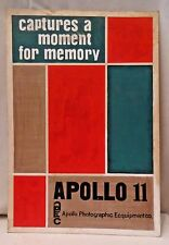 APOLLO PHOTOGRAPHIC CO VINTAGE ADVERTISEMENT CARDBOARD SIGN HAND PAINTED 1969
