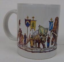 Vintage Dinotopia Coffee Mug Dinosaurs 90s TV Show James Gurney 1993 Mug