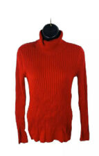 Croft & Barrow Womens Sweater Pullover Knit Turtleneck Long Sleeve Red Small