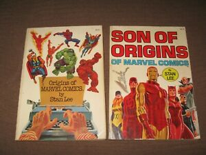 ORIGINS OF MARVEL COMICS & SON OF ORIGINS set TPB STAN LEE first editions