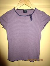 The Children's Place short sleeves striped top in purple size M ( 7/8) girls