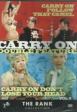 CARRY ON DOUBLE FEATURE VOL 1 DON'T LOSE YOUR HEAD + FOLLOW THAT CAMEL (DVD) New