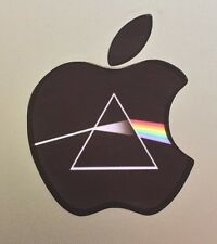 GLOWING PINK FLOYD DARK SIDE OF THE MOON Apple MacBook Pro Air Laptop Logo DECAL