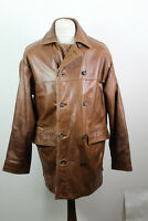 DANIEL HECHTER Brown Leather Coat Size M