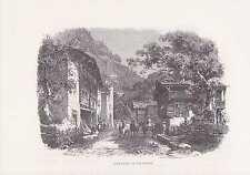 Silenen UR Kanton Uri Schweiz HOLZSTICH um 1880