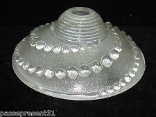 Joli ancien lustre satiné, 1930, Art Déco, décor de perles