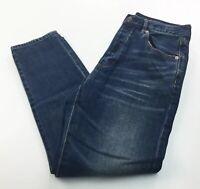 American Eagle Womens Hi Rise Girlfriend Button Fly Jeans 8 Short Medium Wash