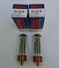 New 2x Tung-Sol EL34B / EL34 | Matched Pair / Duet / Two Tubes | Free Ship