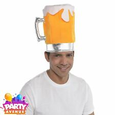 Beer Pint Glass Pot Hat Fancy Dress Stag Party Costume Bavaria Oktoberfest