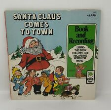 SANTA CLAUS COMES TO TOWN Book & Record Peter Pan