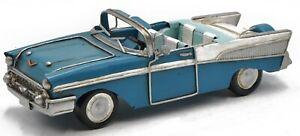 1957 57 Chevy Nomad Car Convertible Automobile Belair 1:10 Carousel Blue Figure