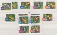 Australia 2003 Rainforests Sets Different Prints/Papers MNH X9176