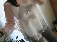 NEU S M L Shirt Tunika Bluse 2Tlg Blogger Sommer Top 3/4 Arm Batik TREND Italy