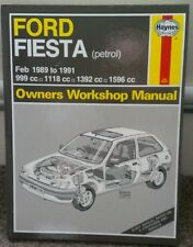 Ford Fiesta petrol Haynes manual from    Feb 1989 to 1991 (UK SELLER)