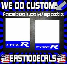 2x Kanjo Door Sticker Decal TYPE R CRX CR-Z Shuttle Kanjozoku Osaka JDM ek si