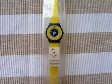 Amarillo SKIN SWATCH Yellow/blue vintage 1996/1997 New In Case, new battery