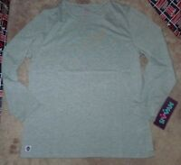 NEW SIVVAN Women Ladies L/S Long Sleeve T Shirt Grey Gray 2XL XXL NEW NWT