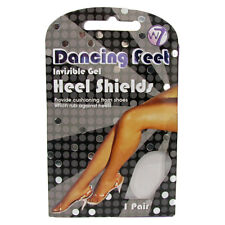 W7 Foot Care Dancing Feet Invisible Soft Gel Heel Shields 1 Pair