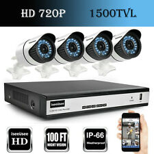 HD 720P 4CH HDMI AHD DVR 1500TVL Outdoor IR-CUT CCTV Home Security Camera System