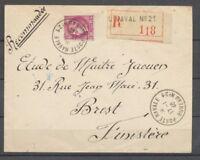 1940 Env. POSTE NAVALE/BUREAU N°21 obl France 3F. Sur LR (Toulon), Superbe X1433