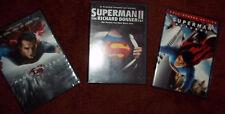 Lot of 3 Superman dvds Man of Steel Superman Returns Superman II Richard Donner